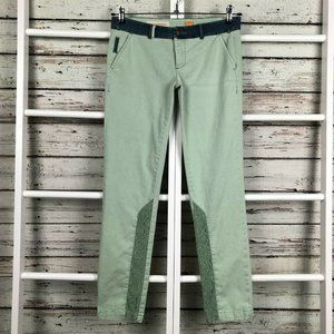 Anthropologie Pilcro Hyphen Lace Chino Pants Green
